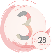 Save on price to our month to month subscription box by committing for 3 months